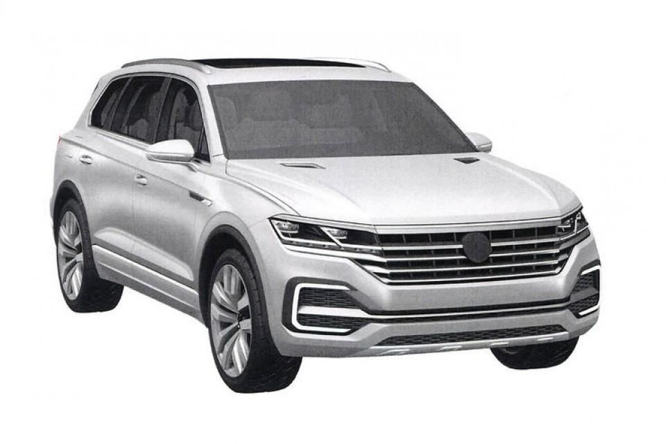 VW全新Touareg造型專利圖曝光 幾乎完全沿用概念車設計