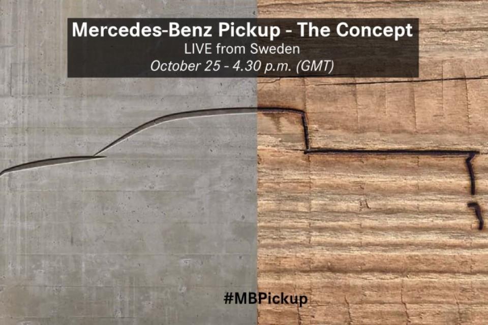 Mercedes-Benz首輛貨卡車GLT 預告即將現身